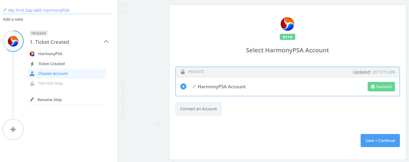 Harmony account connection test succ.png