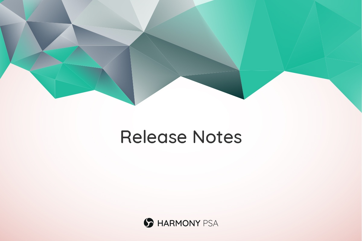 Harmony PSA release notes for version 4.20